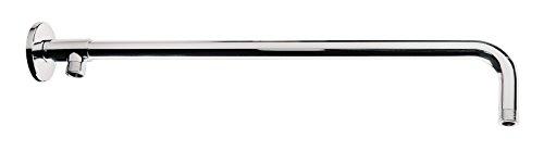 'aquaSu® Wellness Brausearm zur Montage einer Kopfbrause | 50 cm | In Verbindung mit einer Aufputz-Armatur | 1/2 Zoll | Chrom | Duschkopf Halterung