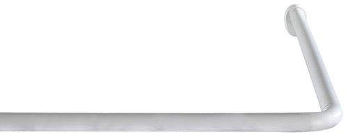Wenko Winkelstange Universal - Duschvorhangstange, Ø 2 cm, weiß