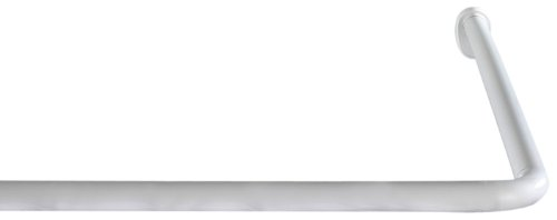 Wenko Winkelstange Universal, variabel, Ø 2 cm, Aluminium weiß, 19214100