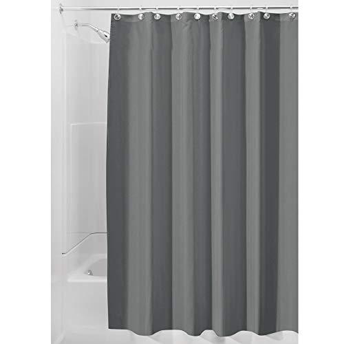 iDesign Duschvorhang, Stoff, dunkelgrau, 180,0 cm x 200,0 cm