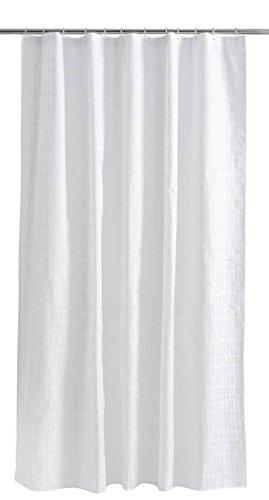 Finlayson coronna Dusche Vorhang, Baumwolle, weiß/weiß, 180x 200cm