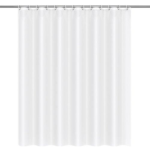 Htovila Duschvorhang Wasserdicht Anti-Schimmel mit 12 Duschvorhangringe aus PEVA 180x180 CM Weiß