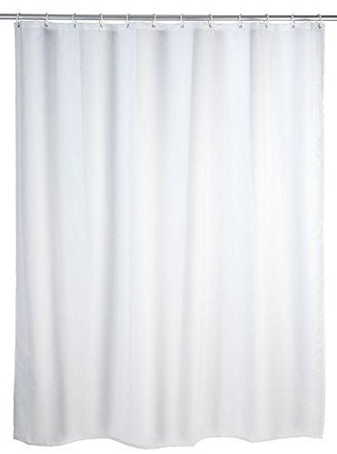 Wenko 20151100 Anti-Schimmel Duschvorhang Uni White - Anti-Bakteriell, waschbar, Polyester, 200 x 180 cm