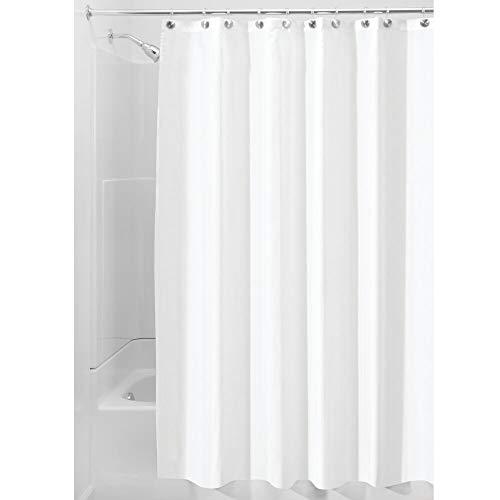 iDesign Duschvorhang, Stoff, weiß, 180,0 cm x 200,0 cm