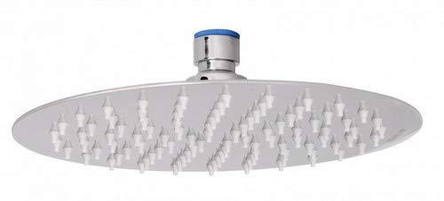 Wohnling Luxus Edelstahl Einbau Regendusche - Regenbrause 20 cm - Duschkopf rund mit Anti-Kalk Düsen