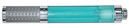 LED Stab Handbrause Duschkopf Farbwechsel Chrom Blau Sanlingo
