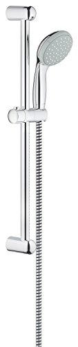 Grohe Tempesta 100 | Brause- und Duschsystem - Brausestangenset | 600 mm, 1 Strahlarten, feste Bohrlöcher zur Befestigung, chrom | 27853000
