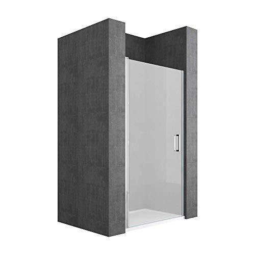Sogood Nischentür Nischendrehtür Duschabtrennung Teramo22 100x190cm ESG-Sicherheitsglas Duschtür aus Satiniertem Glas inkl. NANO-Beschichtung