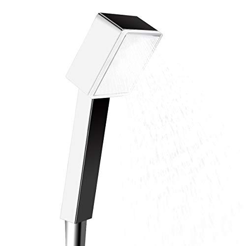 LED Duschkopf, Betuy Square Hochdruck Dusche Kopf, 3 Farbe Ändern Temperatur Gesteuert Intelligente Anti-glühende Licht Ion Shower Head