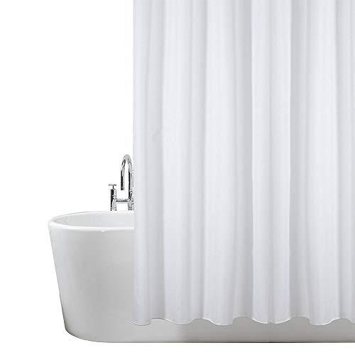 Duschvorhang, Badezimmer, Badewanne, Umweltfreundlich, Waschbarer, Anti-Schimmel, Anti-Bakteriell, Schimmelresistent Duschvorhang - Solid Weiß, 180 x 180 cm (71 x 71 Zoll)   100% Polyester