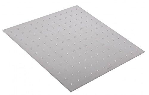 Wohnling Luxus Edelstahl Einbau Regendusche - Regenbrause 40 x 40 cm - Duschkopf quadratisch mit 144 Anti Kalk Düsen