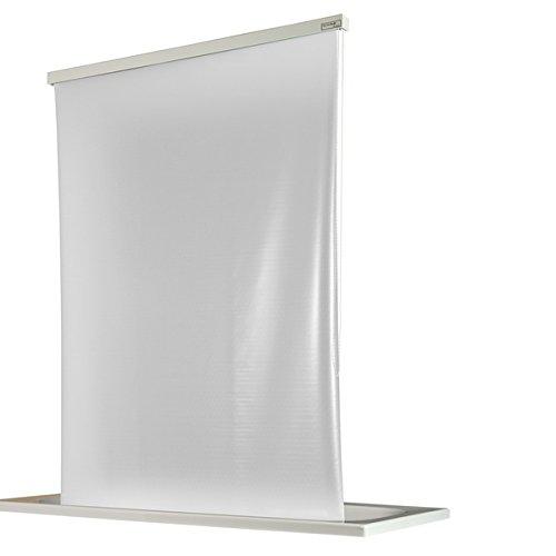 ECO-DuR  4024879000660 Kassetten Duschrollo 134 cm weiß - Folie unbedruckt