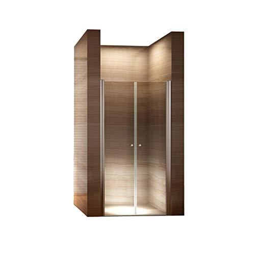 i-flair 90cm - Verstellbereich von 88-92cm, Höhe: 195 cm, Duschabtrennung, Duschtür aus 6mm Sicherheitsglas mit Nanobeschichtung
