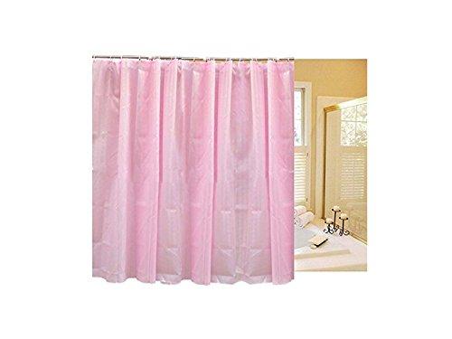 OVVO Machen Sie schöne Dekoration Modernes Design Vorhänge Polyester Duschvorhang Plus Multifunktions Wasserdichtes Badezimmer Vorhang (Pink)