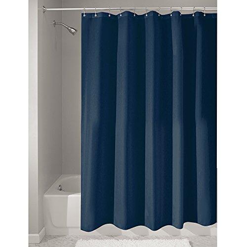 InterDesign Duschvorhang, Stoff, marineblau, 180,0 cm x 200,0 cm