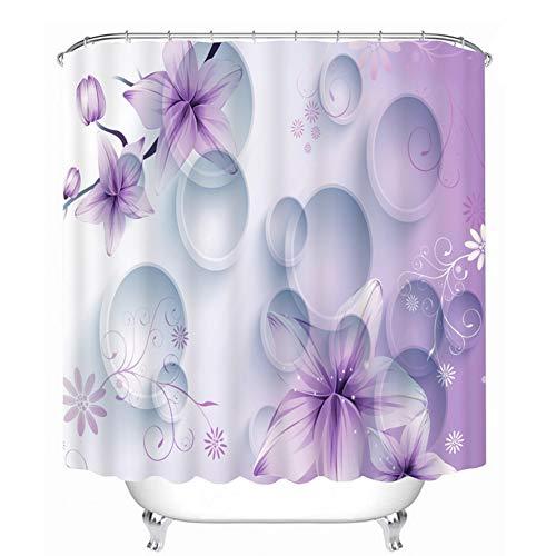 LanLan Duschvorh?nge 3D Druck F?rben Wasserdicht Duschvorhang Stilvolle Badezimmer Vorh?nge f¨¹r Badezimmer Liefert lila 150x180