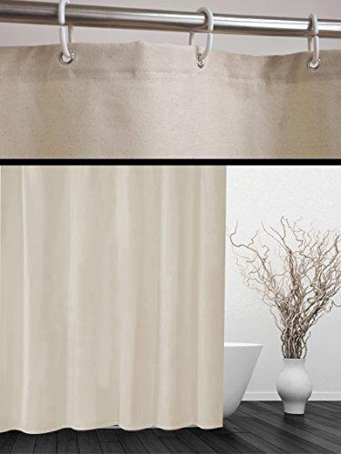 """Designer Duschvorhang """"COTTON"""" 180x180 cm incl. Ringe Vorhang"""