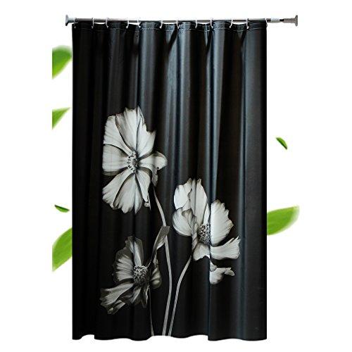 ZJM-Bath Vorhang PEVA Black Shading Wasserdichte Mildewproof Elegant Edle Duschvorhänge