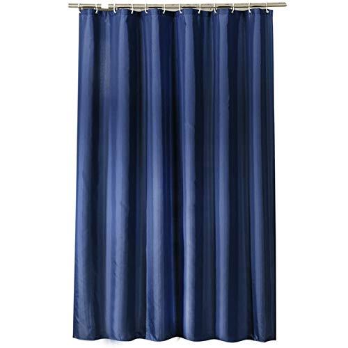 SonMo Duschvorhang Einbunte Polyester Dunkelblau Wasserdicht Anti-Schimmel Anti-Bakteriellbad Vorhang für Badewanne Badezimmer mit Duschvorhangringen Verdicken 120×200CM
