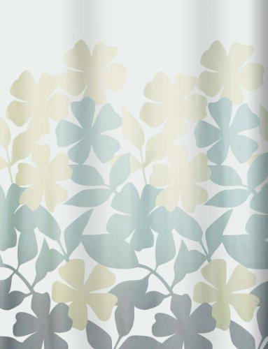 Spirella 10.17085 Textil-Duschvorhang Fleury Taupe/Beige, 180 x 200 cm