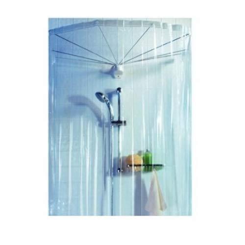 """Spirella Duschspinne Duschfaltschirm """"Ombrella"""" transparent Duschvorhang"""