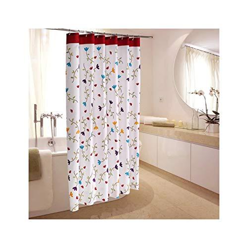 SonMo Duschvorhang Bunte Blume Polyester Bunt Anti-Bakteriell Anti-Schimmel Wasserdichtbadezimmer Vorhang mit Duschvorhangringen Verdicken 240×200CM