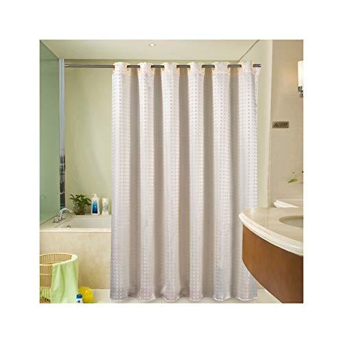 SonMo Duschvorhang Quadrat Muster Gitter Polyester Beige Anti-Schimmel Wasserdicht Anti-Bakteriellbad Vorhang für Badezimmer Badewanne mit Duschvorhangringen Verdicken 240×180CM