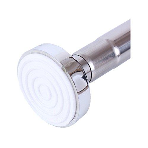 Duschvorhangstange hochwertige Duschstange ohne Bohren Duschvorhang Halterung mit einfacher Montage Edelstahl 125-220 cm