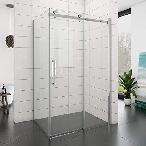 Dusche Duschkabine Duschabtrennung 120x195cm Duschtür Duschwand aus Sicherheitsglas mit Seitenwand 100x195cm