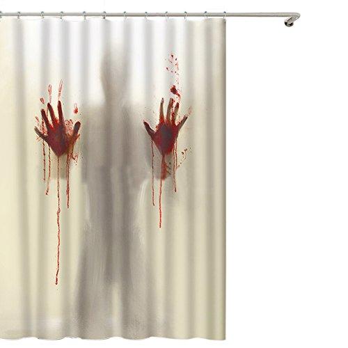 ishowstore Halloween Blut Terror Scary blutig Bloody Neuheit wasserdicht Duschvorhang, Badezimmer Dekoration Bad Vorhang 180cm * 200cm