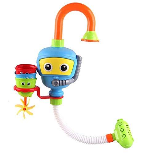 Waroomss Badewannenspielzeug Badezimmer Wasserspiel Springbrunnen Duschkopf Badespielzeug Für Kinder