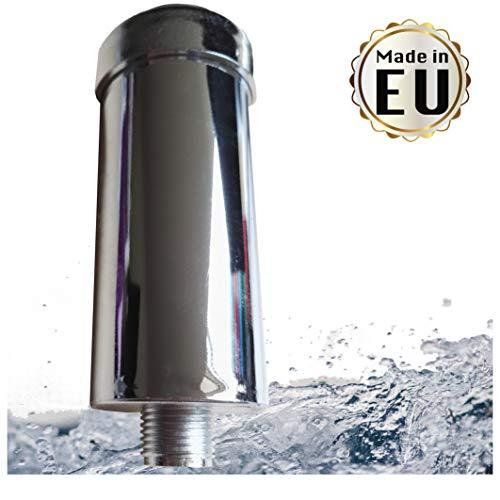 """Duschfilter gegen Kalk und Chlor - reduziert Hautirritationen und strohiges Haar, Markenfilter gefertigt in der EU, Kalkfilter für Dusche & Badewanne mit 1/2"""" Gewinde für normalen Brauseschlauch"""