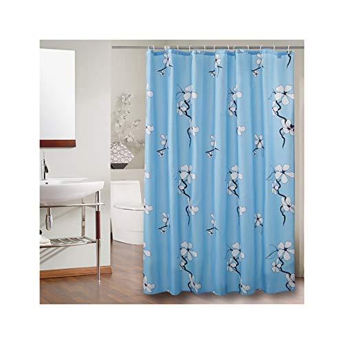 SonMo Duschvorhang Orchidee Blume Polyester Blau Anti-Schimmel Anti-Bakteriell Wasserdichtbadezimmer Vorhänge mit Duschvorhangringen 240×200CM
