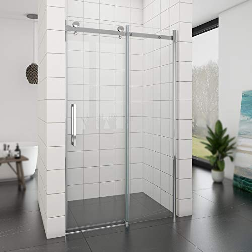 Duschabtrennung schiebetür 120x195 cm Duschtür aus 8mm ESG Sicherheitsglas