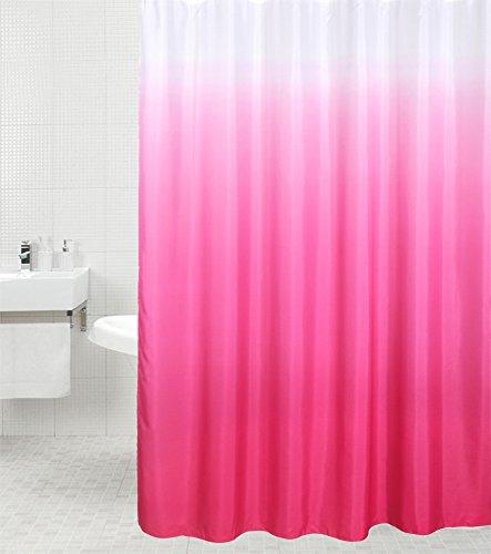 Duschvorhang Magic Pink 180 x 180 cm, hochwertige Qualität, 100% Polyester, wasserdicht, Anti-Schimmel-Effekt, inkl. 12 Duschvorhangringe
