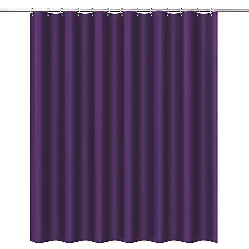 Htovila Duschvorhang Wasserdicht Anti-Schimmel mit 12 Duschvorhangringe aus PEVA 180x180 CM Lila