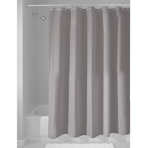 InterDesign Duschvorhang, Stoff, grau, 183,0 cm x 183,0 cm