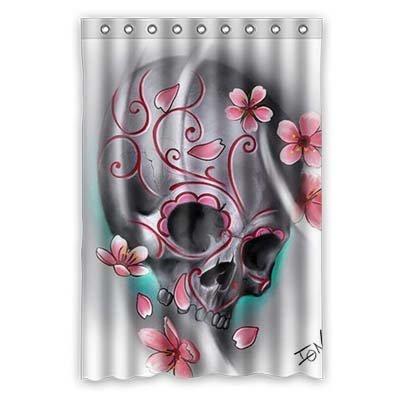 "dalliy Custom Sugar Skull Duschvorhang Polyester 120cm x 183cm, Polyester, e, 48"" x 72"""
