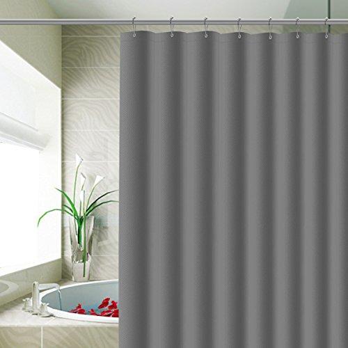 Carttiya Duschvorhang Anti-Schimmel, Eva Wasserdichter Duschvorhang 180 x 180 cm, mit 12 Ringe,Grau