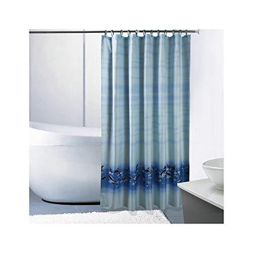 SonMo Duschvorhang Viel Delphin Polyester Blau Wasserdicht Anti-Schimmel Anti-Bakteriellbadewanne Vorhänge mit Duschvorhangringen Verdicken 120×200CM