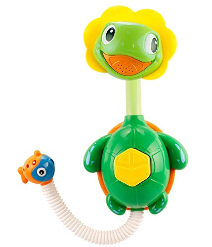 Brigamo Schildkröte Wasserspiel Dusche mit Duschkopf, Badewannen Spielzeug