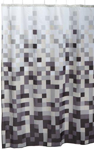 Sealskin Textil Duschvorhang Pixel, schwarz/weiß, B x H: 180 cm x 200 cm