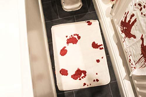 Gift Republic Badvorleger Blutbad, acryl, Mehrfarbig, 69.8 cm L x 49.5 cm W, 2