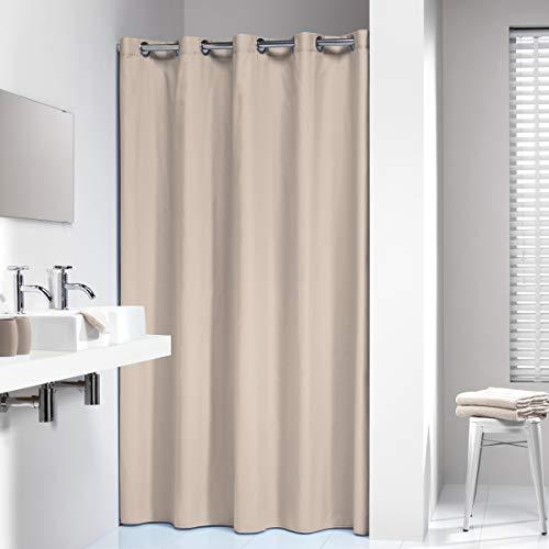 Sealskin Textil Duschvorhang Coloris,  Farbe: Ecru, B x H: 180 x 200 cm