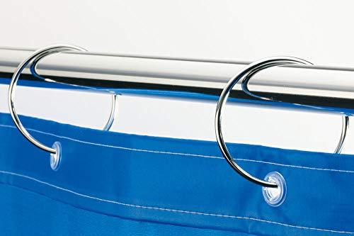 Spirella Duschvorhangringe 12 Stück Chrom Ringo - Passend für alle gängigen Duschvorhangstangen