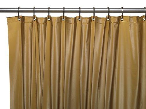 Carnation Home Fashions 3-Gauge Vinyl Duschvorhang Liner mit Metallösen, Plastik Vinyl, Gold, 72 Inches x 72 Inches