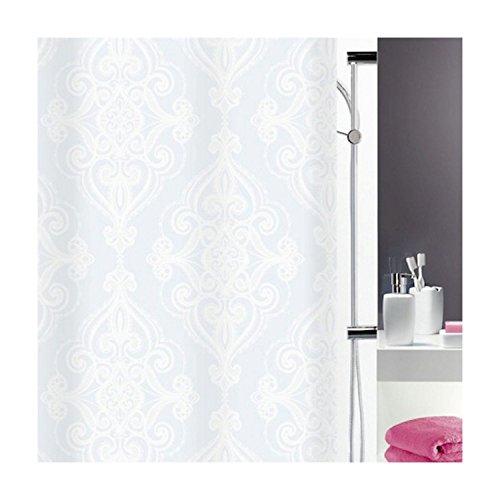 Spirella Rivoli Textil-Duschvorhang 180 x 180 cm, 100% Polyester, Weiß