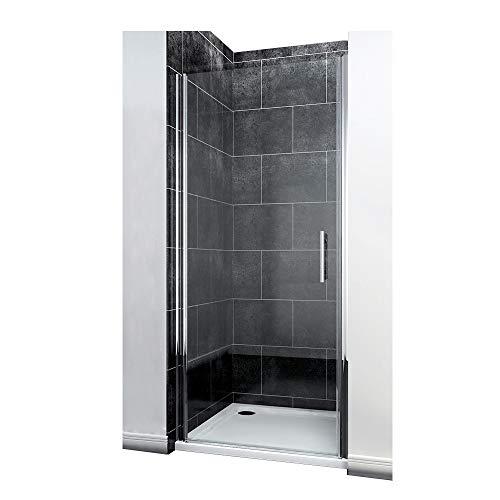 Nischentür Duschabtrennung 76 x 185 cm Duschtür Pendeltür Duschwand Echtglas