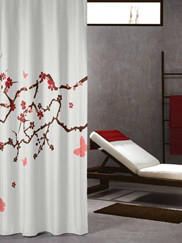 Sealskin Textil Duschvorhang Blossom, Polyester, mehrfarbig, B x H: 180 x 200 cm