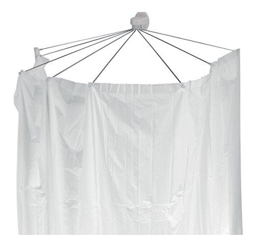 """Spirella Duschspinne Duschfaltschirm """"Ombrella"""" weiß Duschvorhang"""